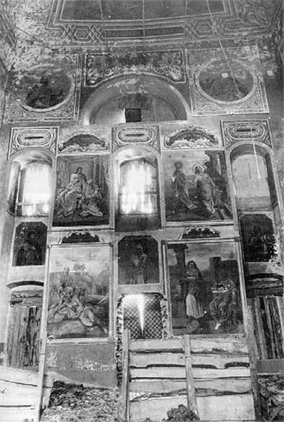 Роспись северной стены (фото 1988 г.)