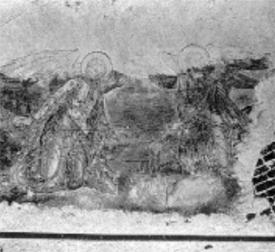 Роспись свода апсиды (фото 1975 г.)